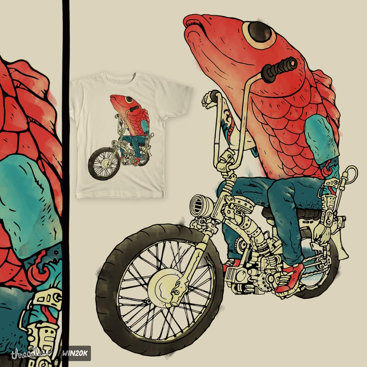 A Fin Ride by derrygautama on Threadless