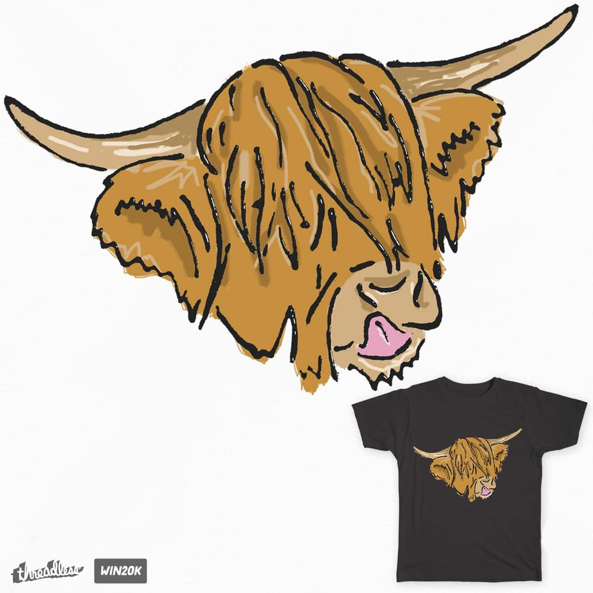 Heilan' Coo by sam1107 on Threadless