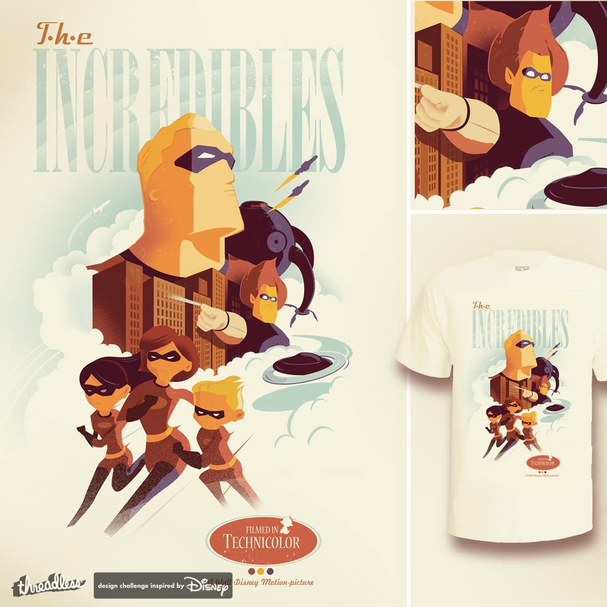 INCREDIBLES TO THE RESCUE by teedotdraws on Threadless