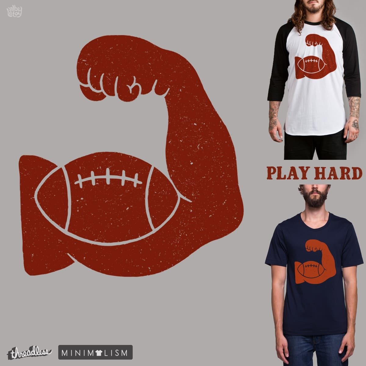 PLAY HARD by albyletoy on Threadless