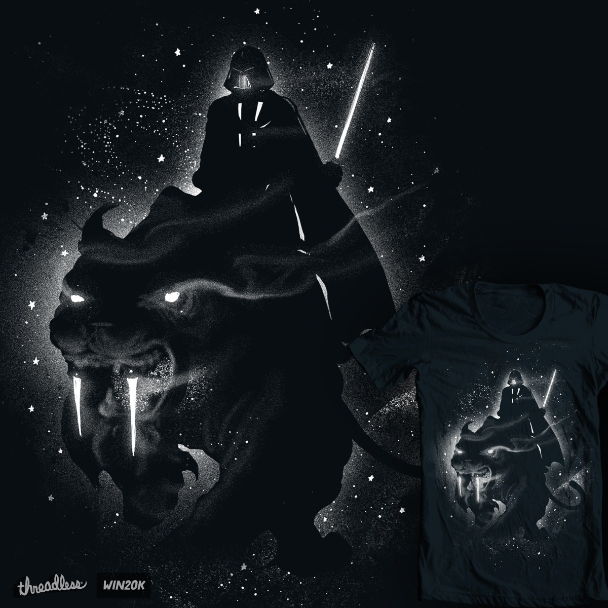 Saber Toothed Tiger by GUTO_SZA and tobiasfonseca on Threadless