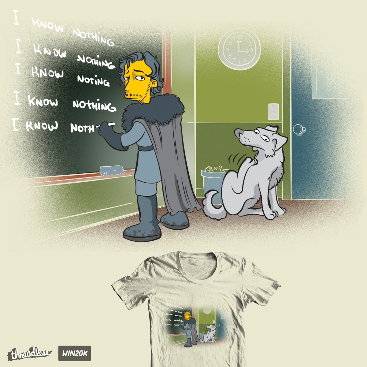 I Know Nothing by GUTO_SZA and tobiasfonseca on Threadless