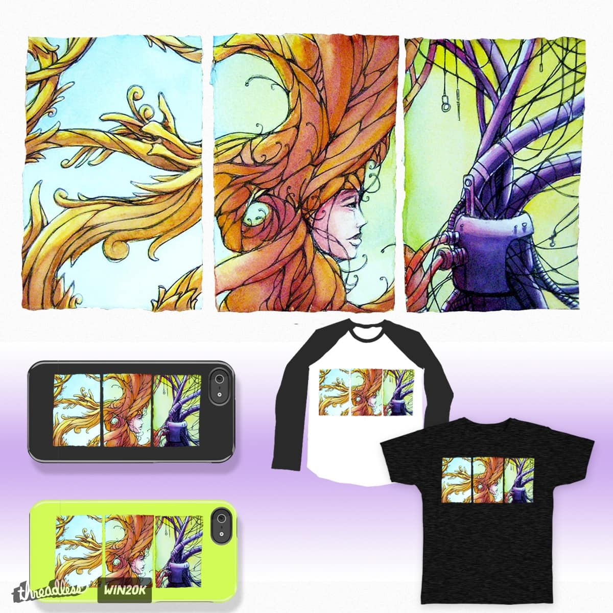 Triptych by amgone on Threadless