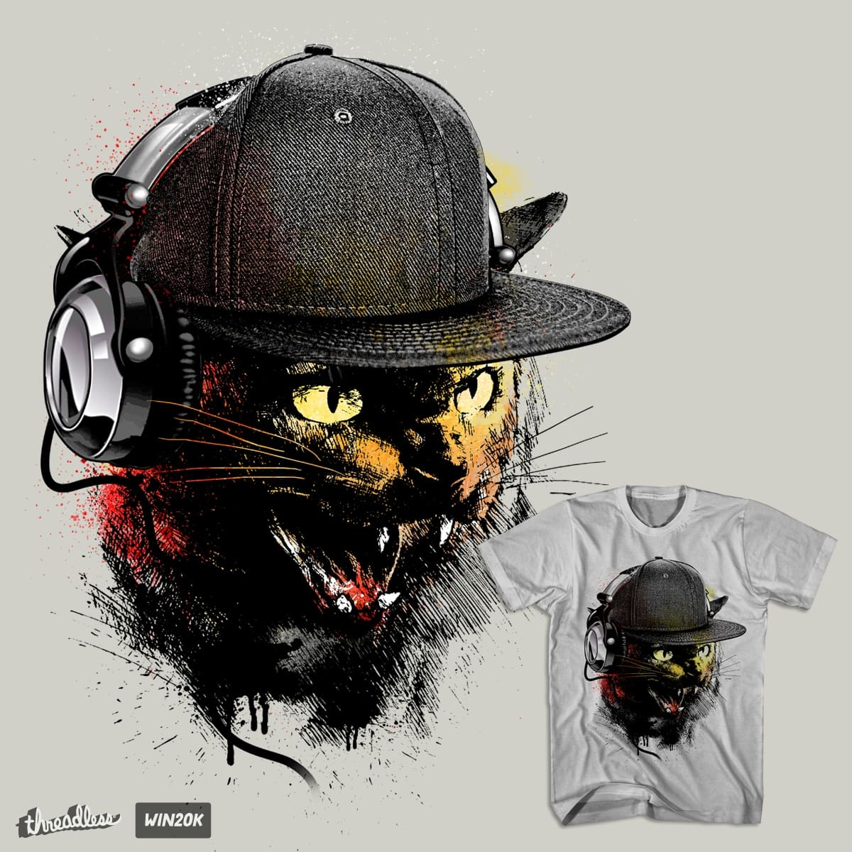 Dj Cat in the mix by chingmoncheng on Threadless