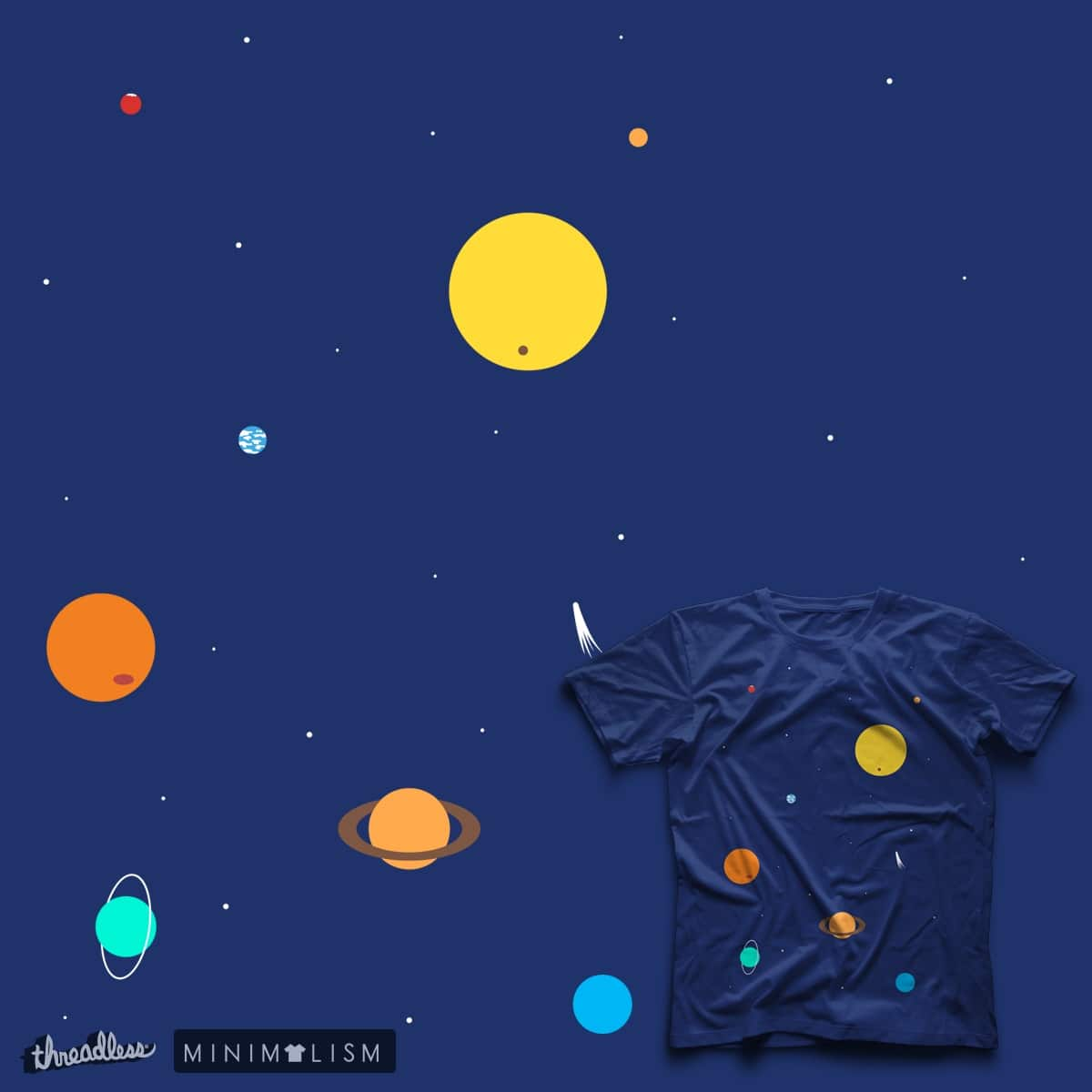 Solar System by FrescoUmbiatore on Threadless