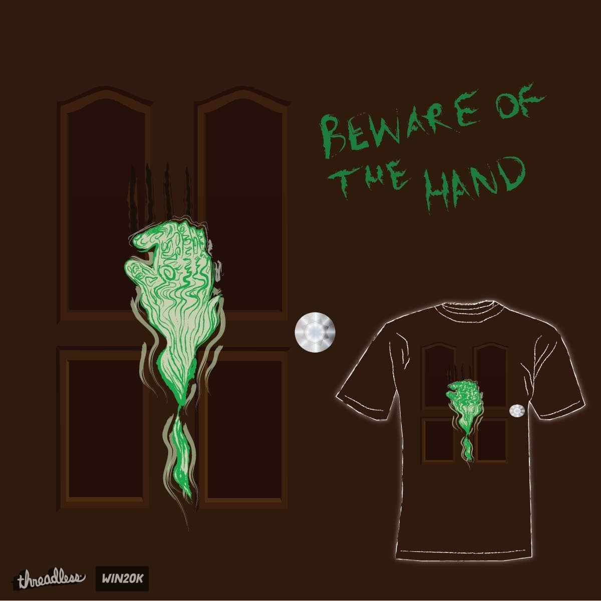 Beware of the hand by brett.hackett.5 on Threadless