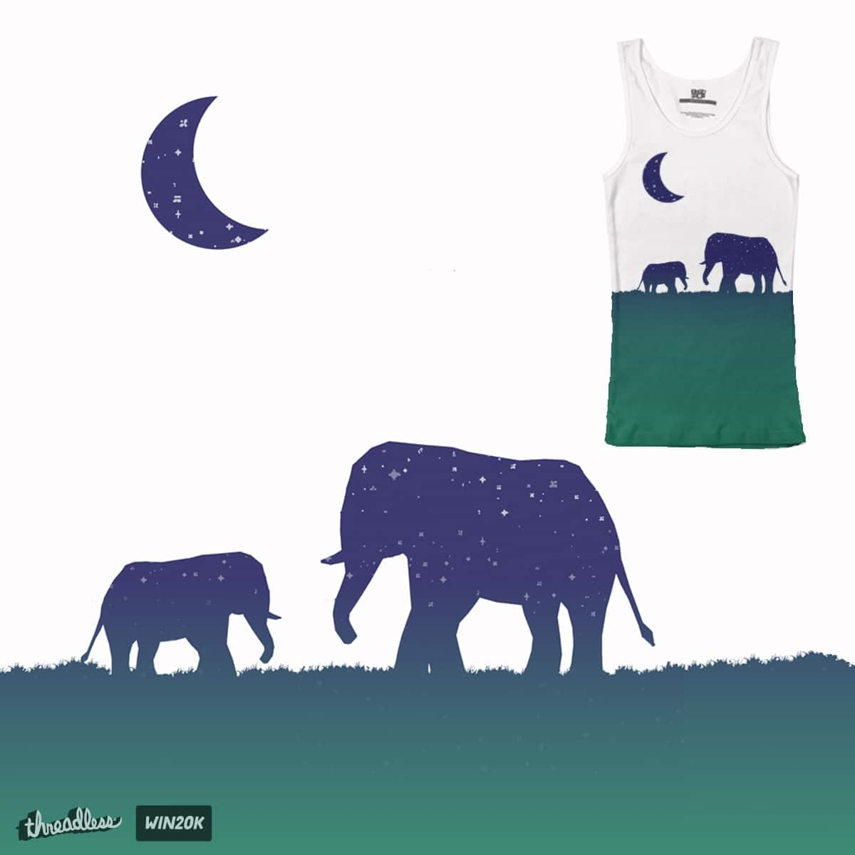 Elephant Silhouette by Sloganart on Threadless