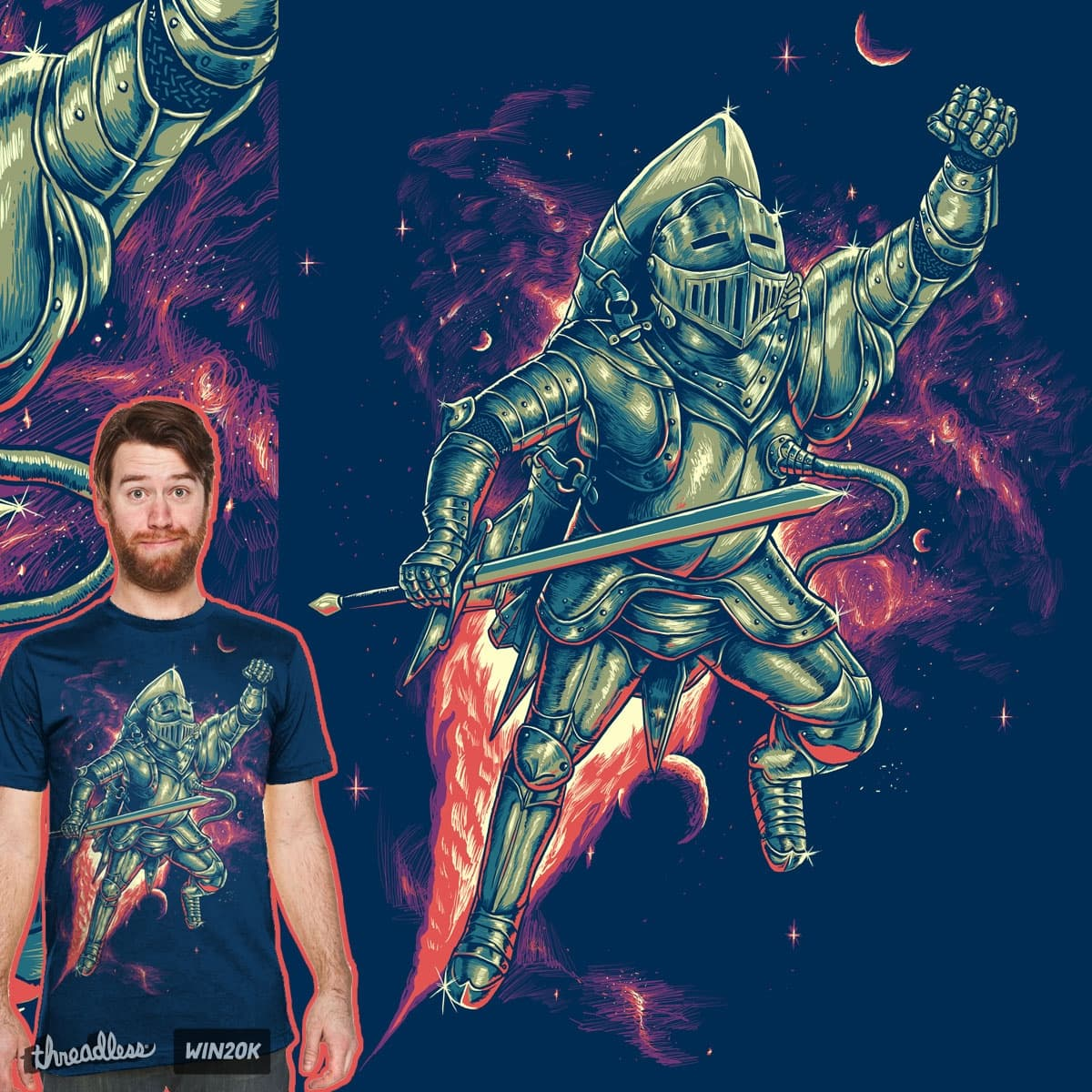 rocket knight by bokien on Threadless