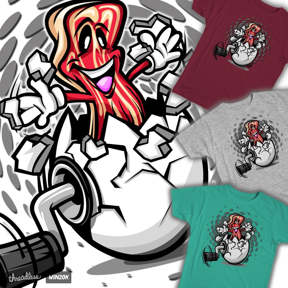 Pop'n Bacon! by Funky Turtle on Threadless