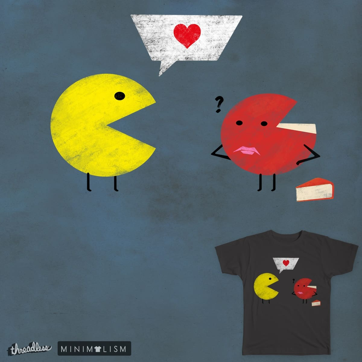 Pacman & Gouda Love by gunberk on Threadless