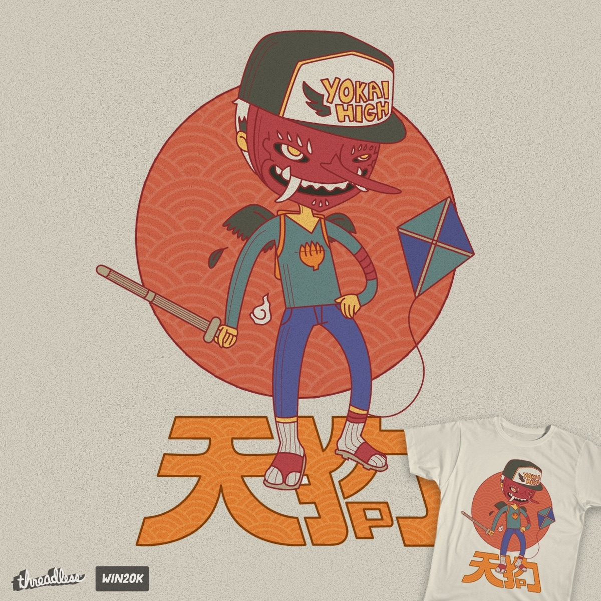 Tengu Boy by icanuseanoven on Threadless