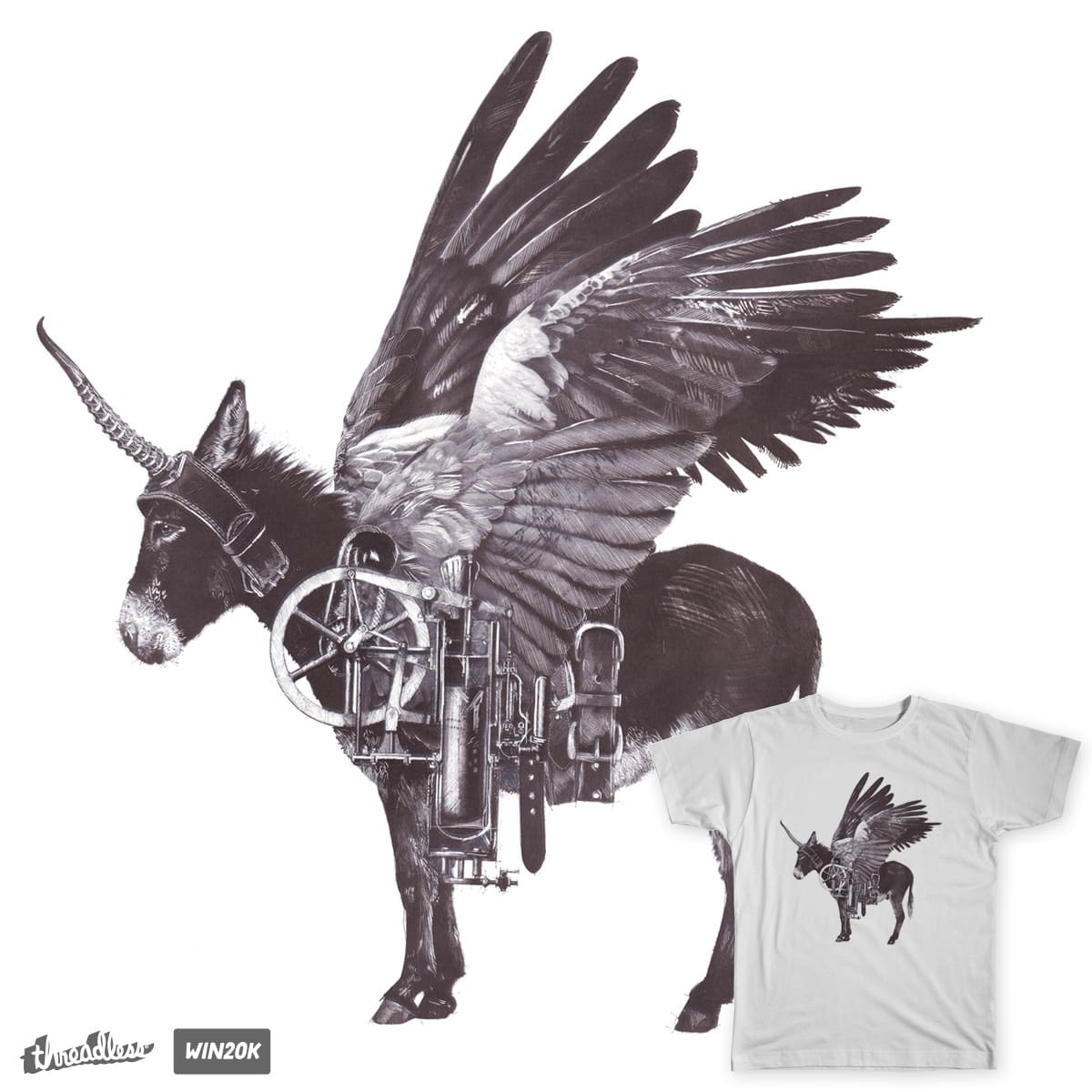 Industrial Donkey by user_1408175979_559 on Threadless