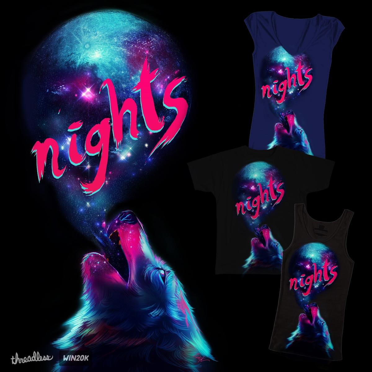Howl the night by Liark2z on Threadless
