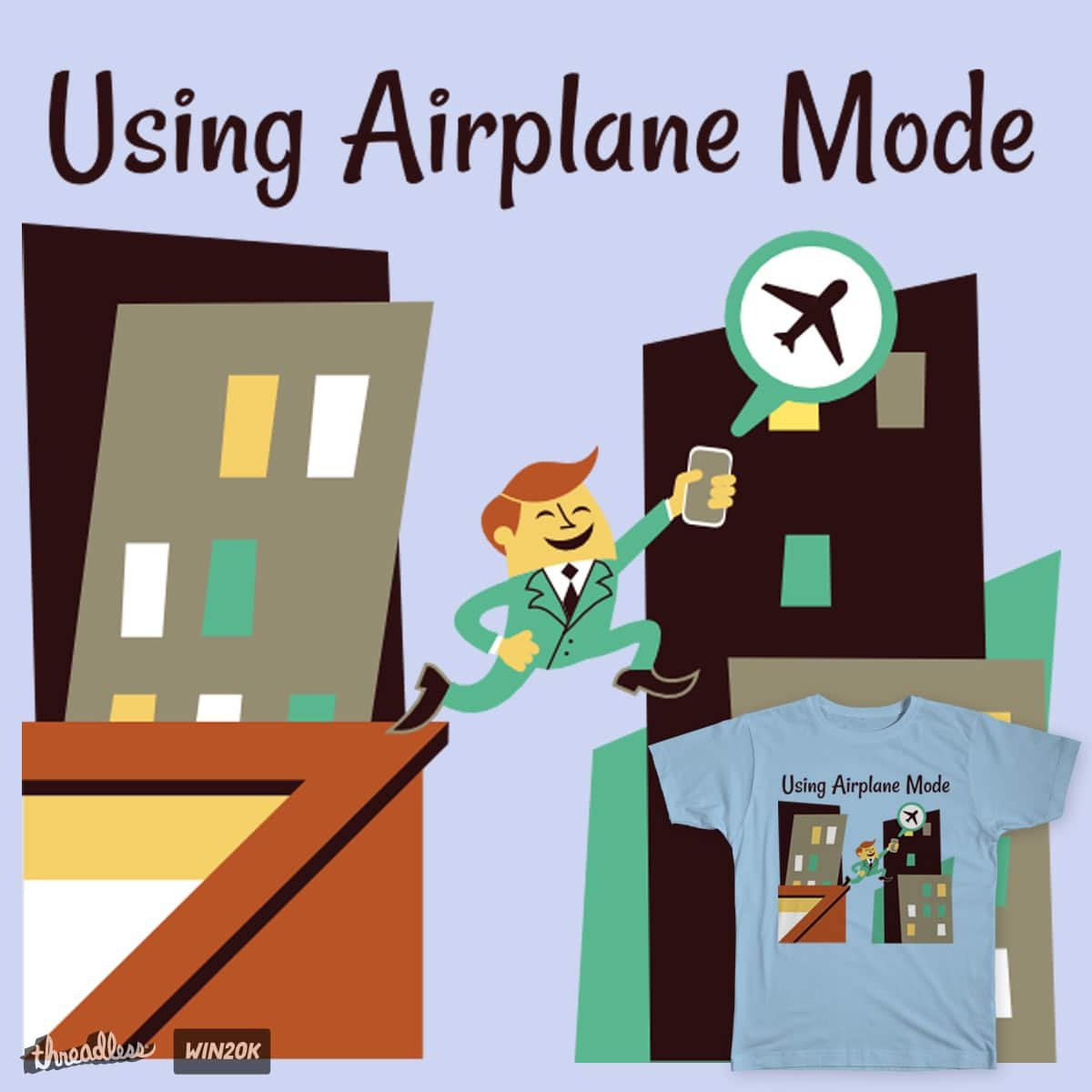 Using Airplane Mode by LagoonCreatures on Threadless