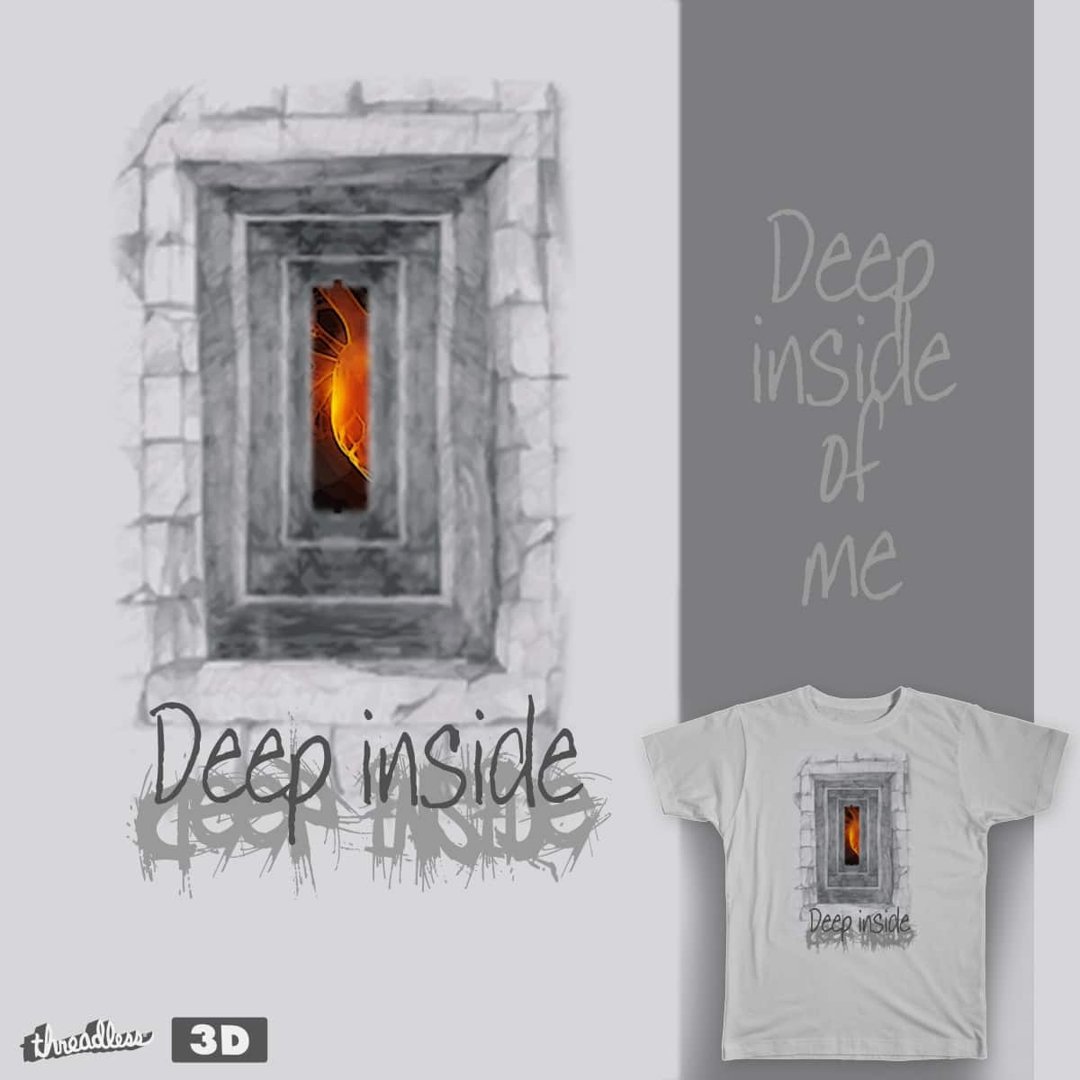 "3""Deep inside of me by spanwat on Threadless"