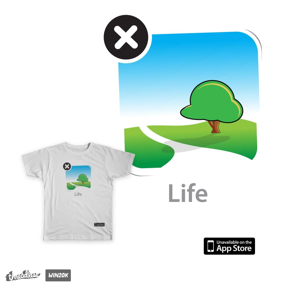 Life App by stuartwitts on Threadless