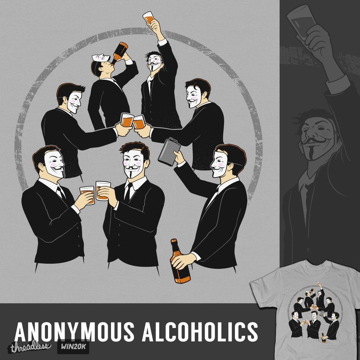 Anonymous Alcoholics by tomburns on Threadless