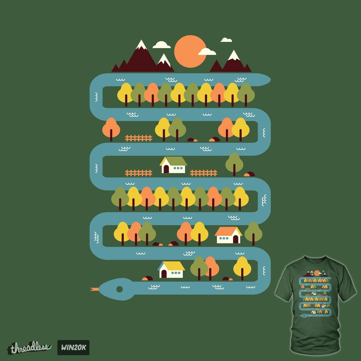 Snake River by StevenT on Threadless