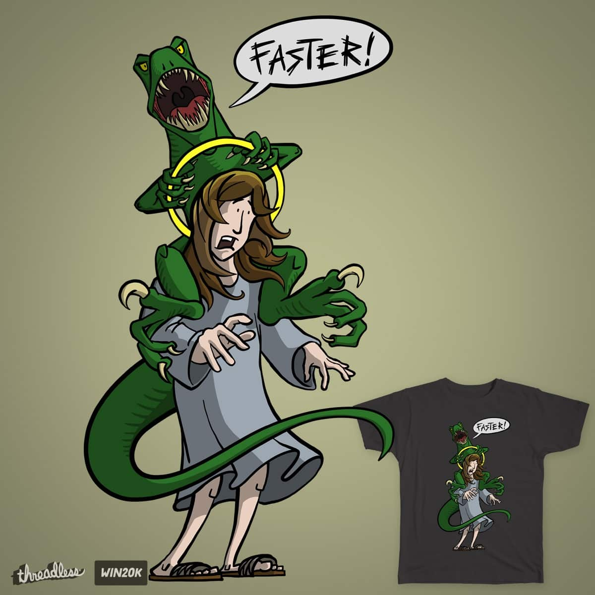 Raptor Jesus by tony_et on Threadless