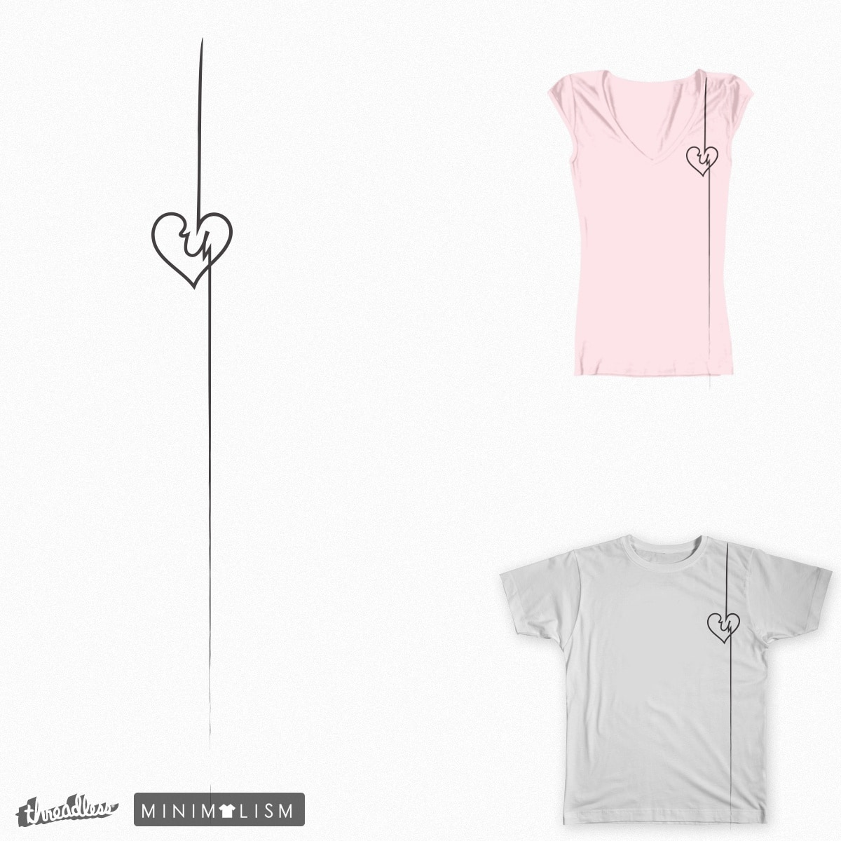 Heart At U by adollei on Threadless