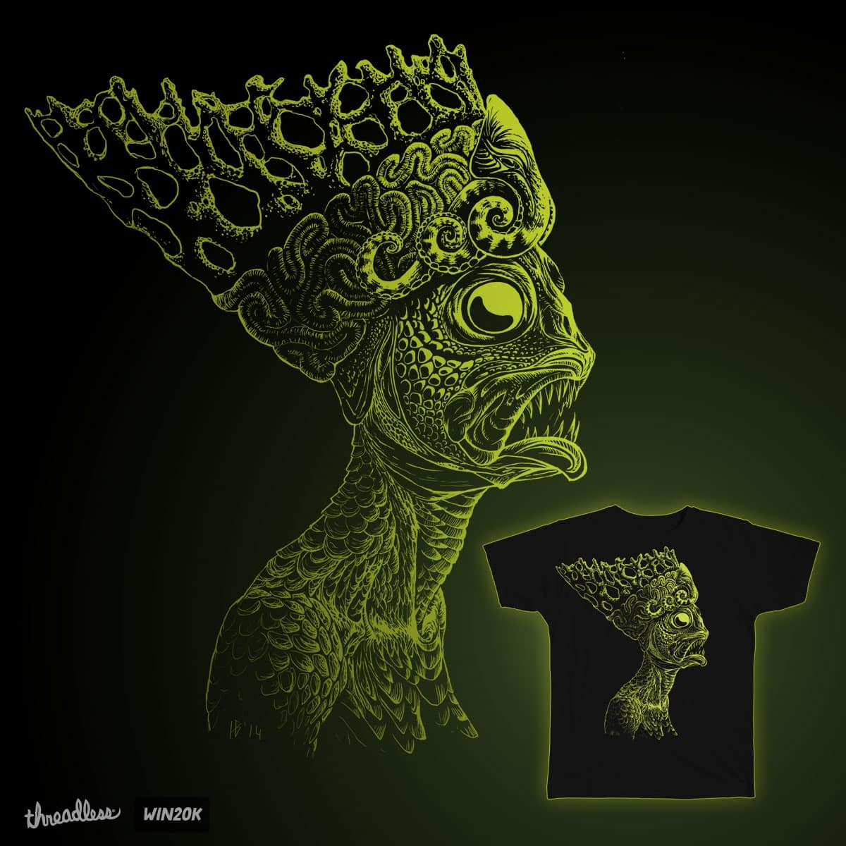 The queen of the Deep Ones by benu on Threadless