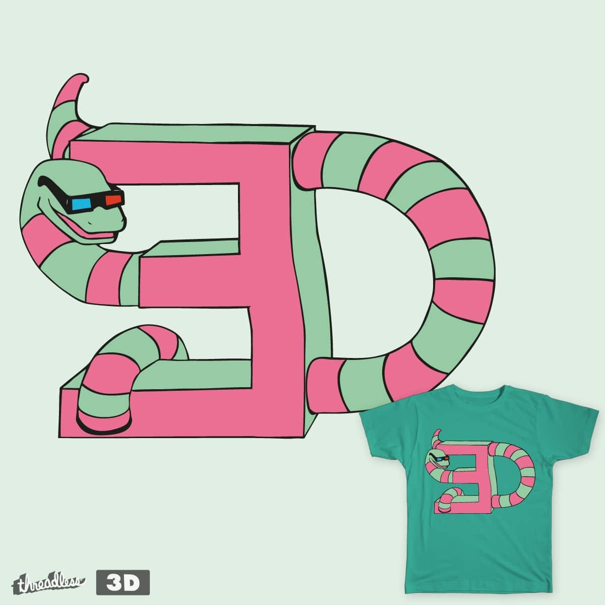 Snake 3D by fabio.mauro.7 on Threadless