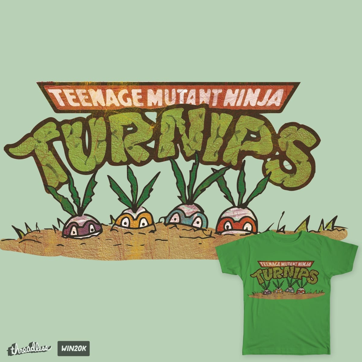 Teenge Mutant Ninja Turnips by Jamietaylor1985 on Threadless