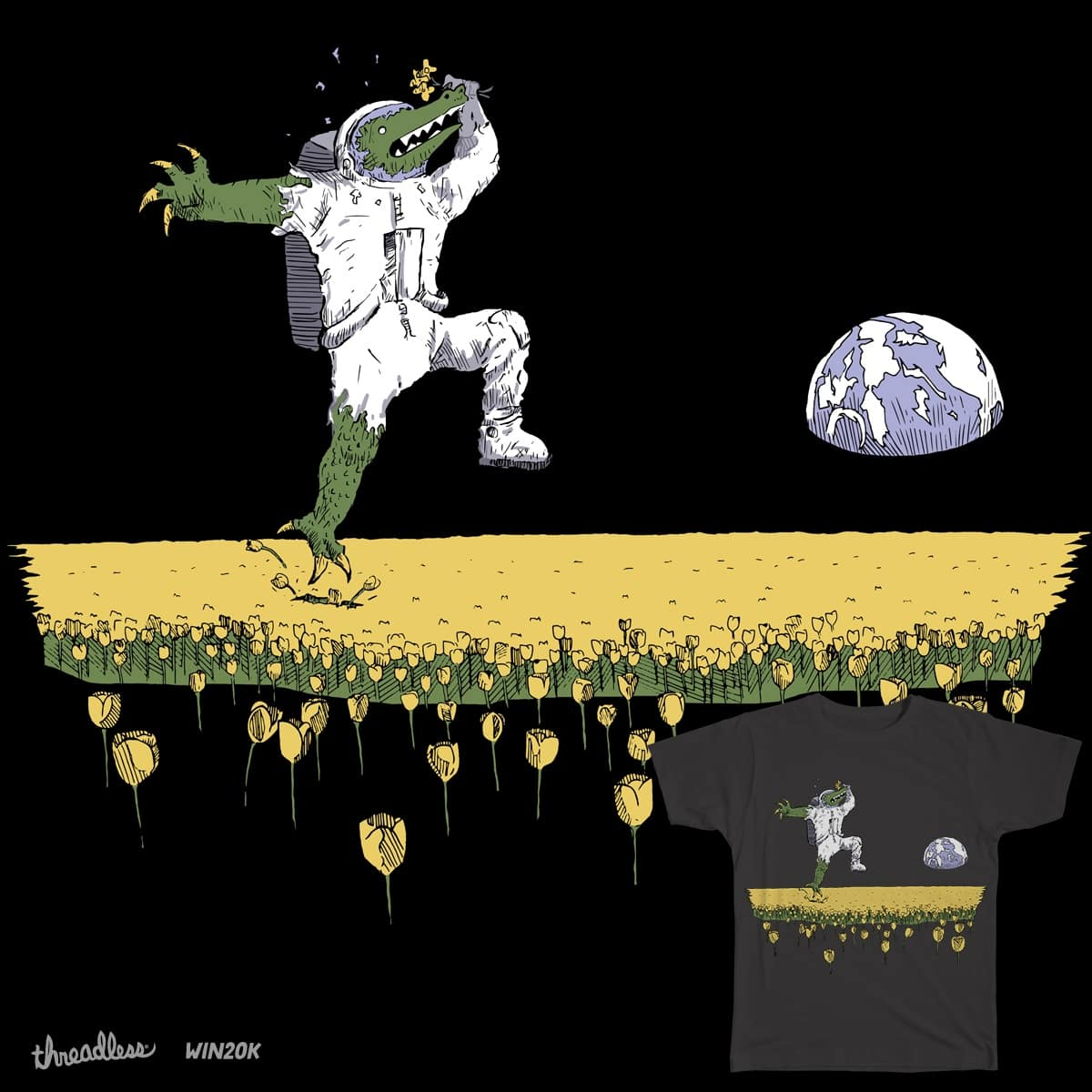 Tiptoe through the tulips by StacheMaster on Threadless
