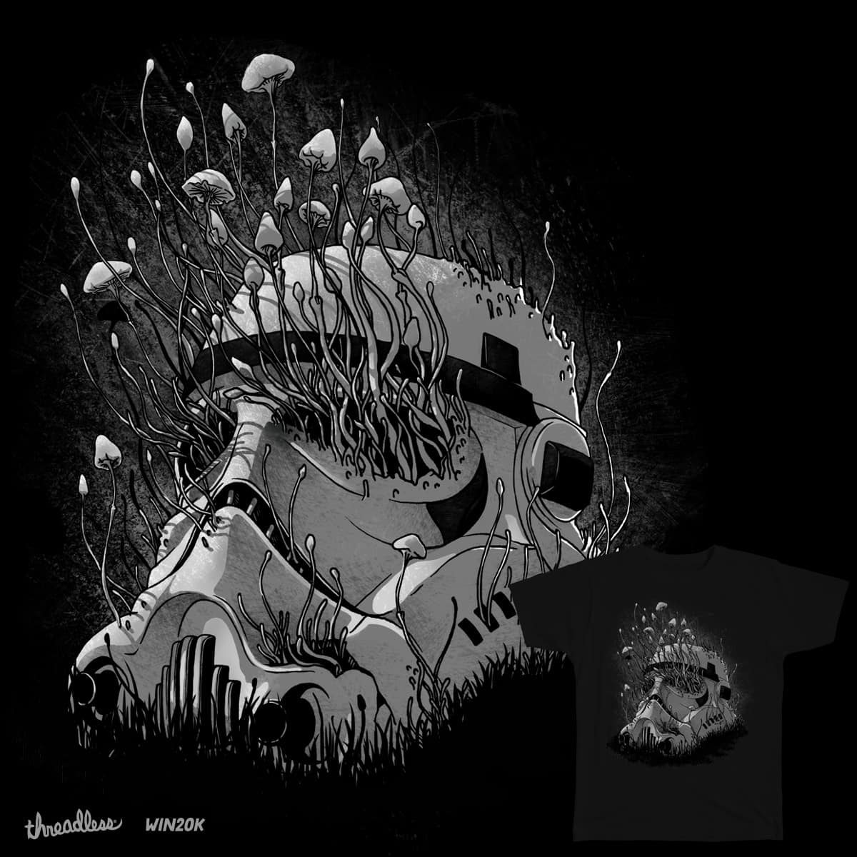 Shroom Trooper by angrymonk on Threadless