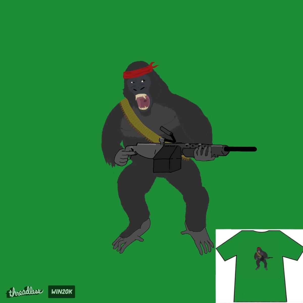 Gorilla Warfare by Tetrastych on Threadless