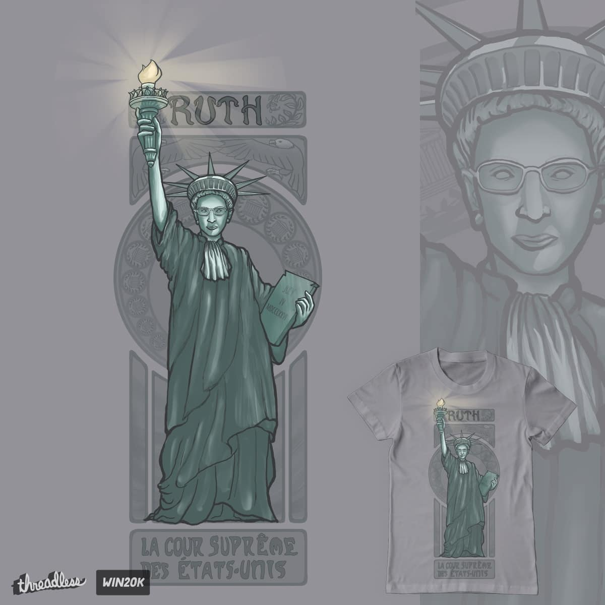 Lady Liberty Ginsburg by Pyne on Threadless