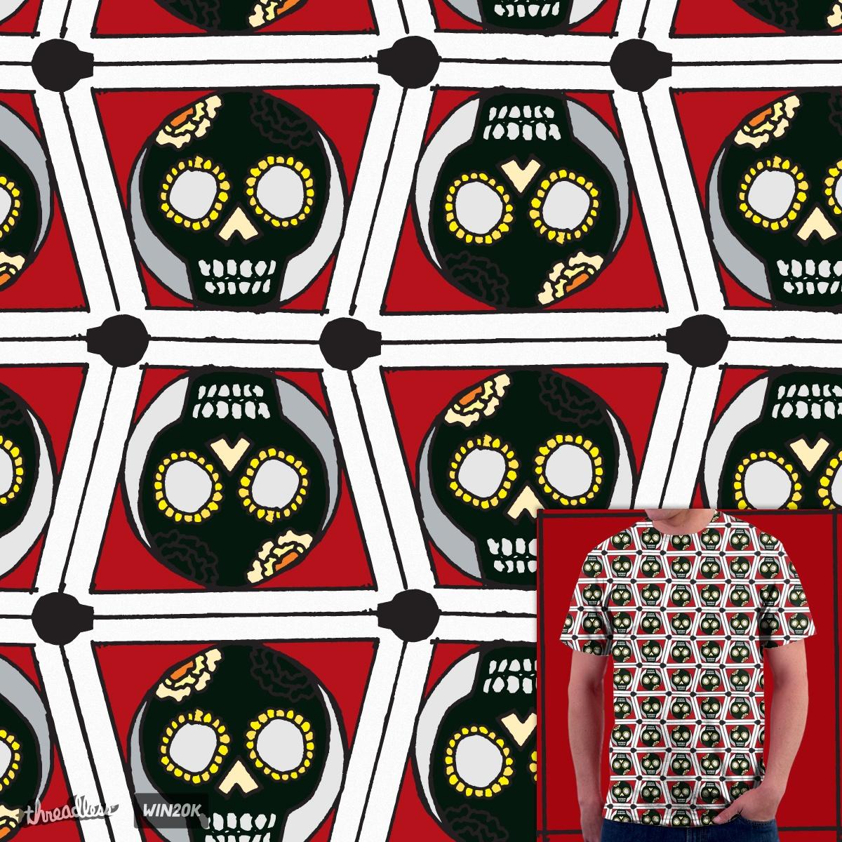 Skull Tee Pattern by mtessh on Threadless