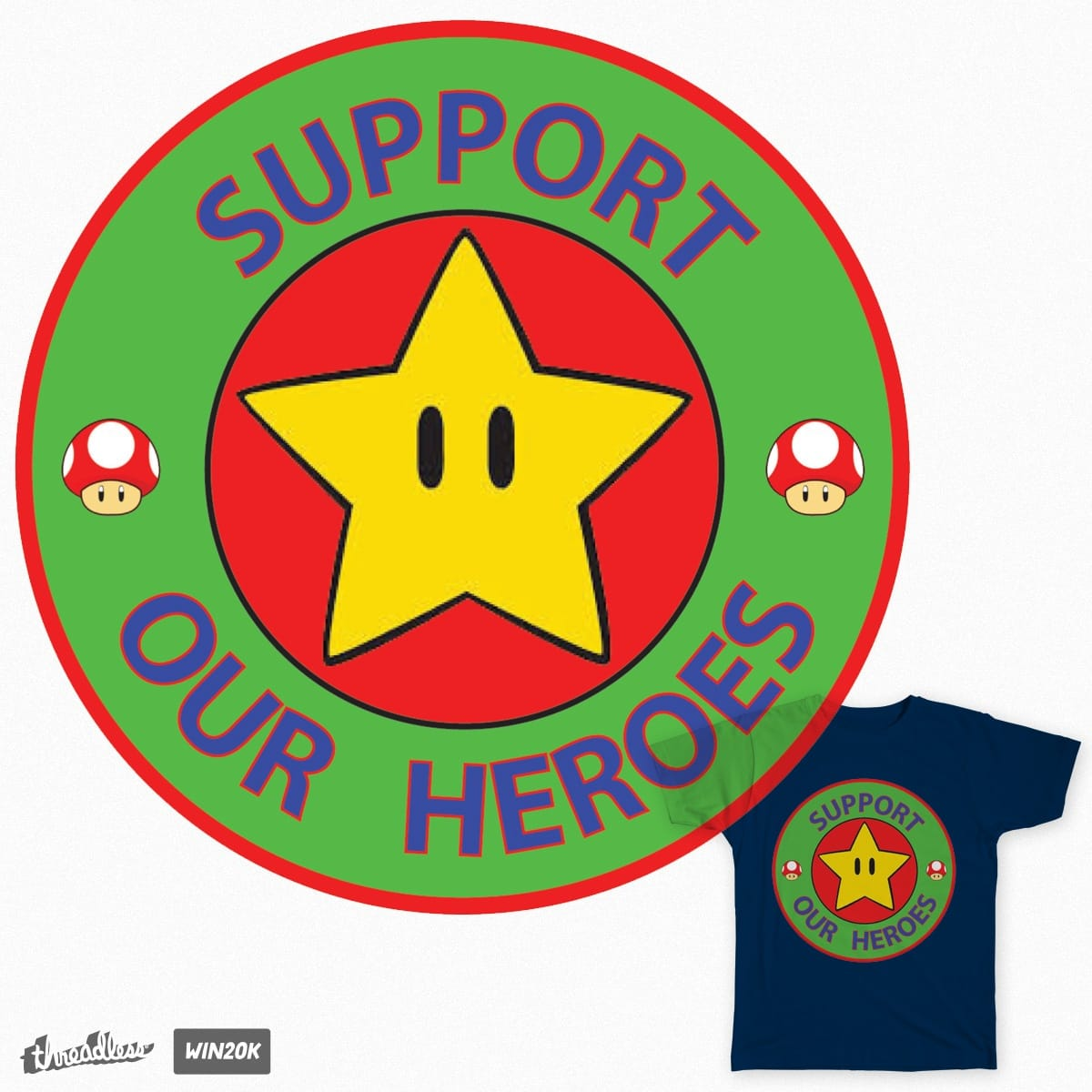 Support Our Heroes II  by MrSue on Threadless