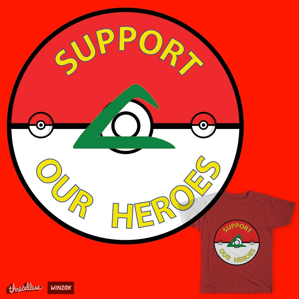 Support Our Heroes III by MrSue on Threadless