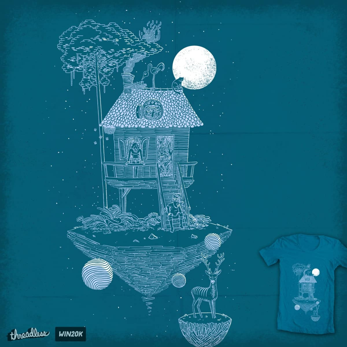 Under the moonlight by c-royal on Threadless