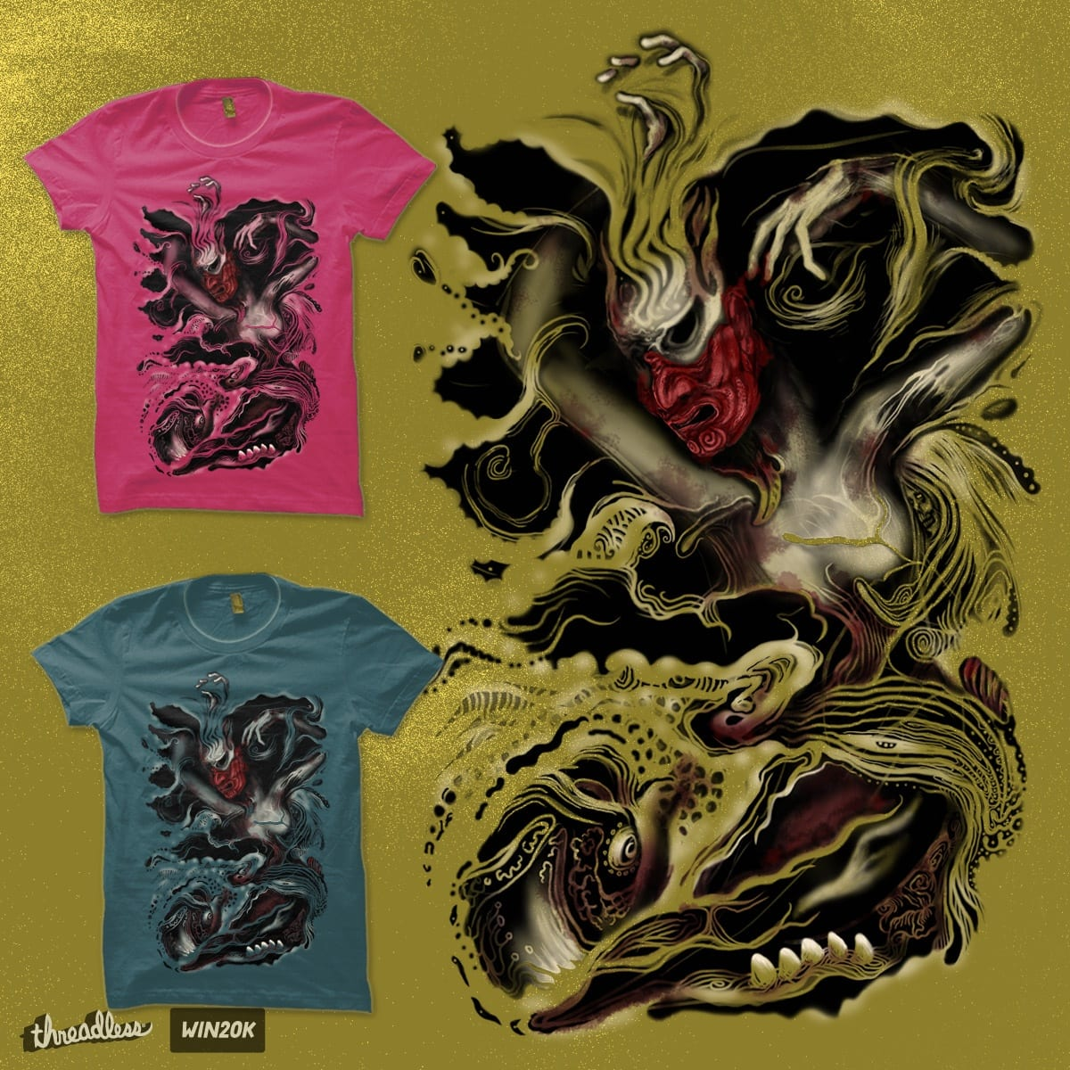 The Warrior, The Beasts, and The Spirits by uwanlibner on Threadless