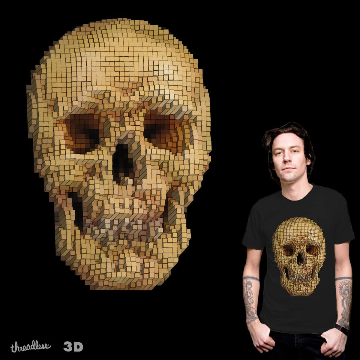 skull 3d by airobit on Threadless