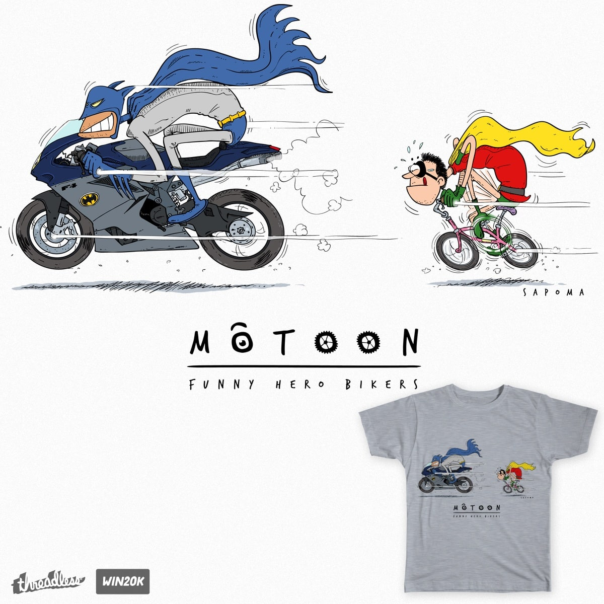Motoon - Batman e Robin by sapoma on Threadless