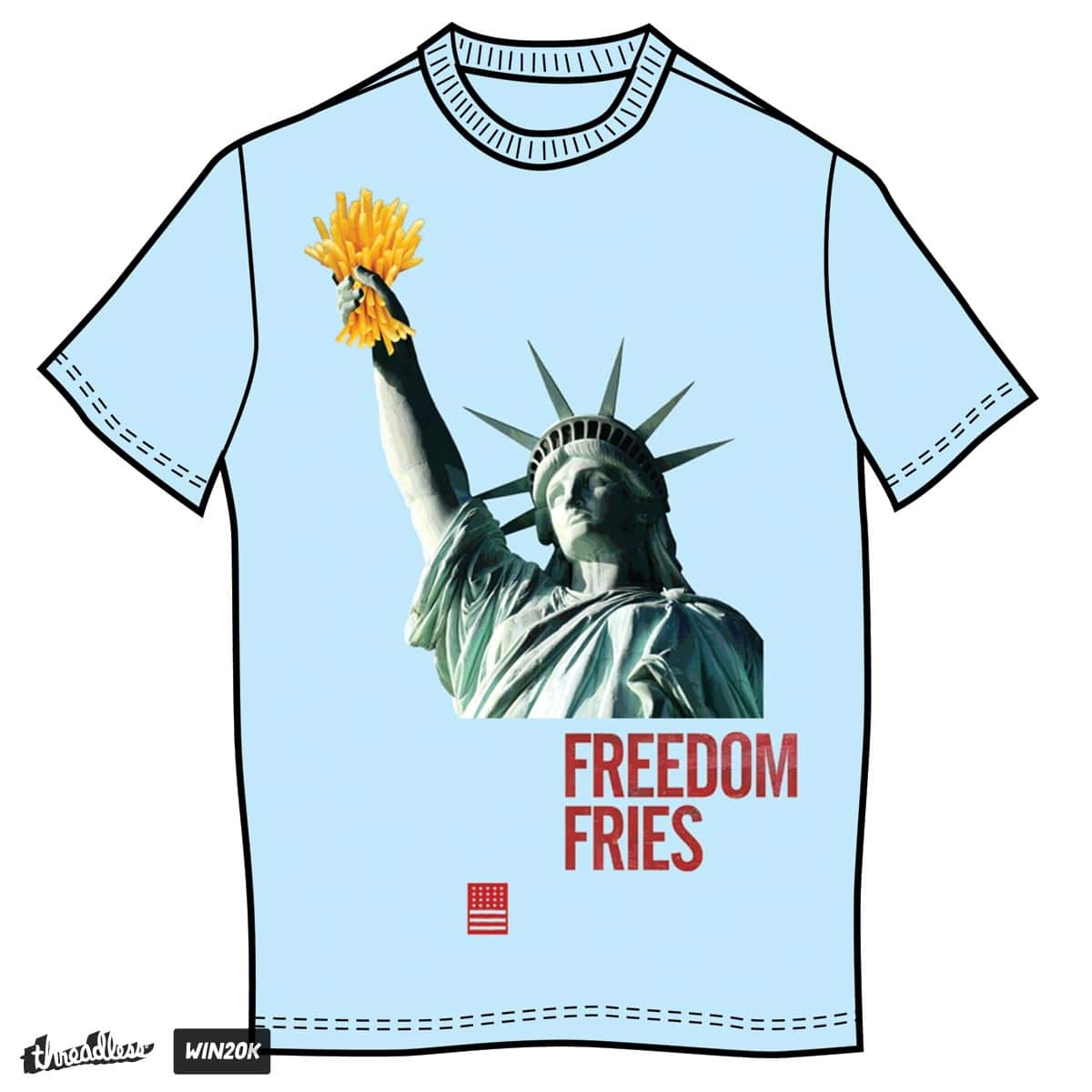 a5bf6cb3b freedom fries and the statue of liberty 3 by random_stupid_t on Threadless