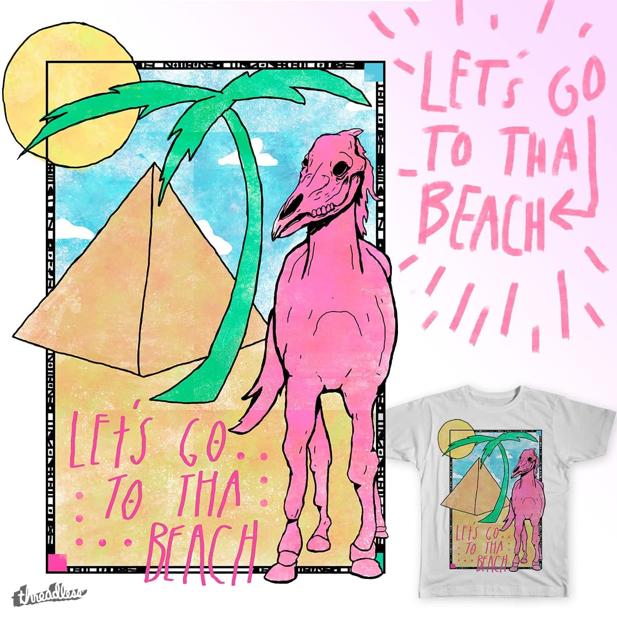 Let's Go To Tha Beach by Righty Pinkbunny on Threadless
