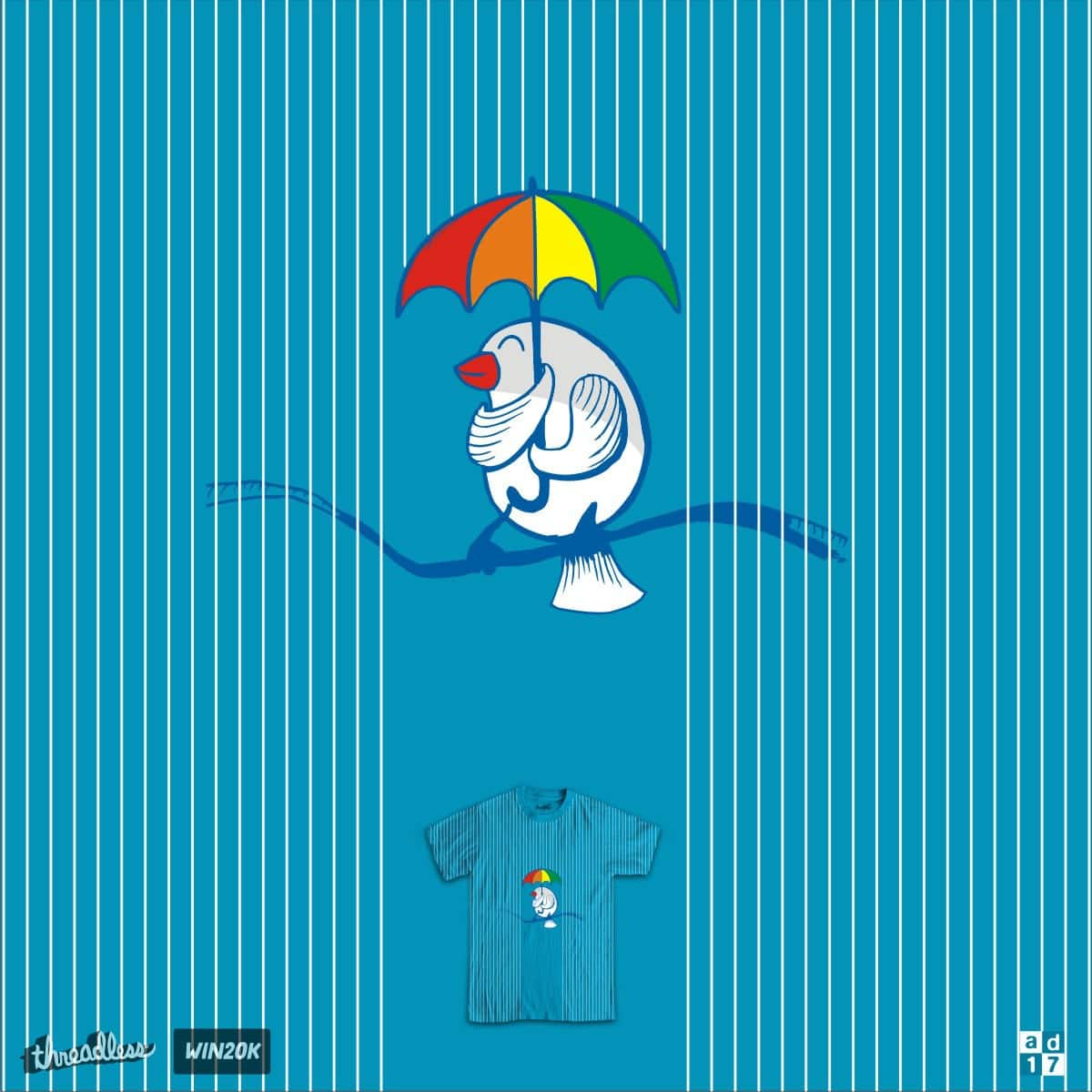 bird in the rain by a.d.17 on Threadless
