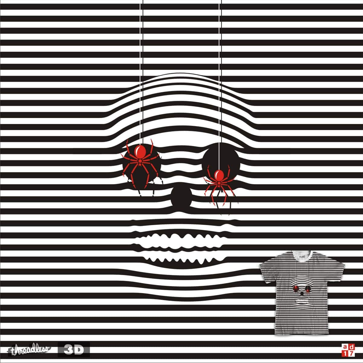 skull stripe & spider by a.d.17 on Threadless