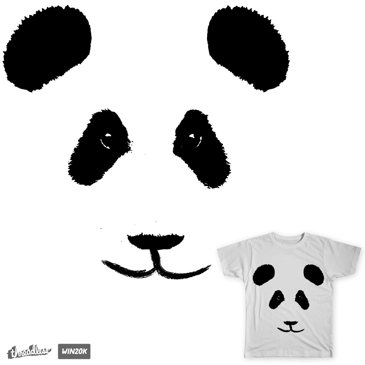 Minimal Panda by daletheskater on Threadless