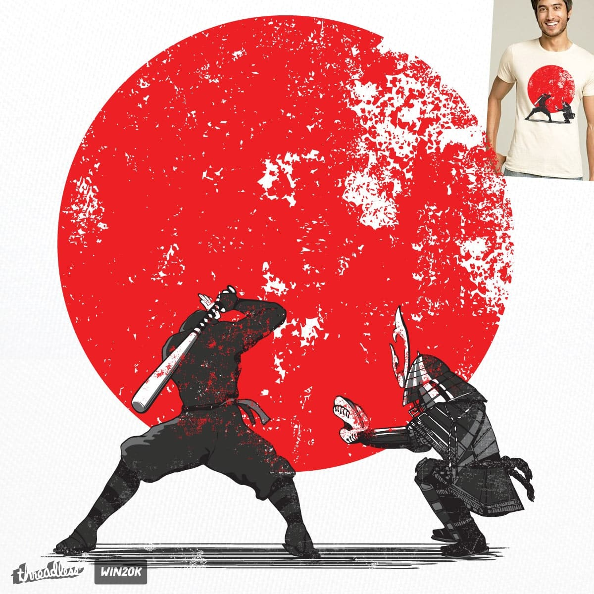 Ninja vs Samurai by Jemae on Threadless