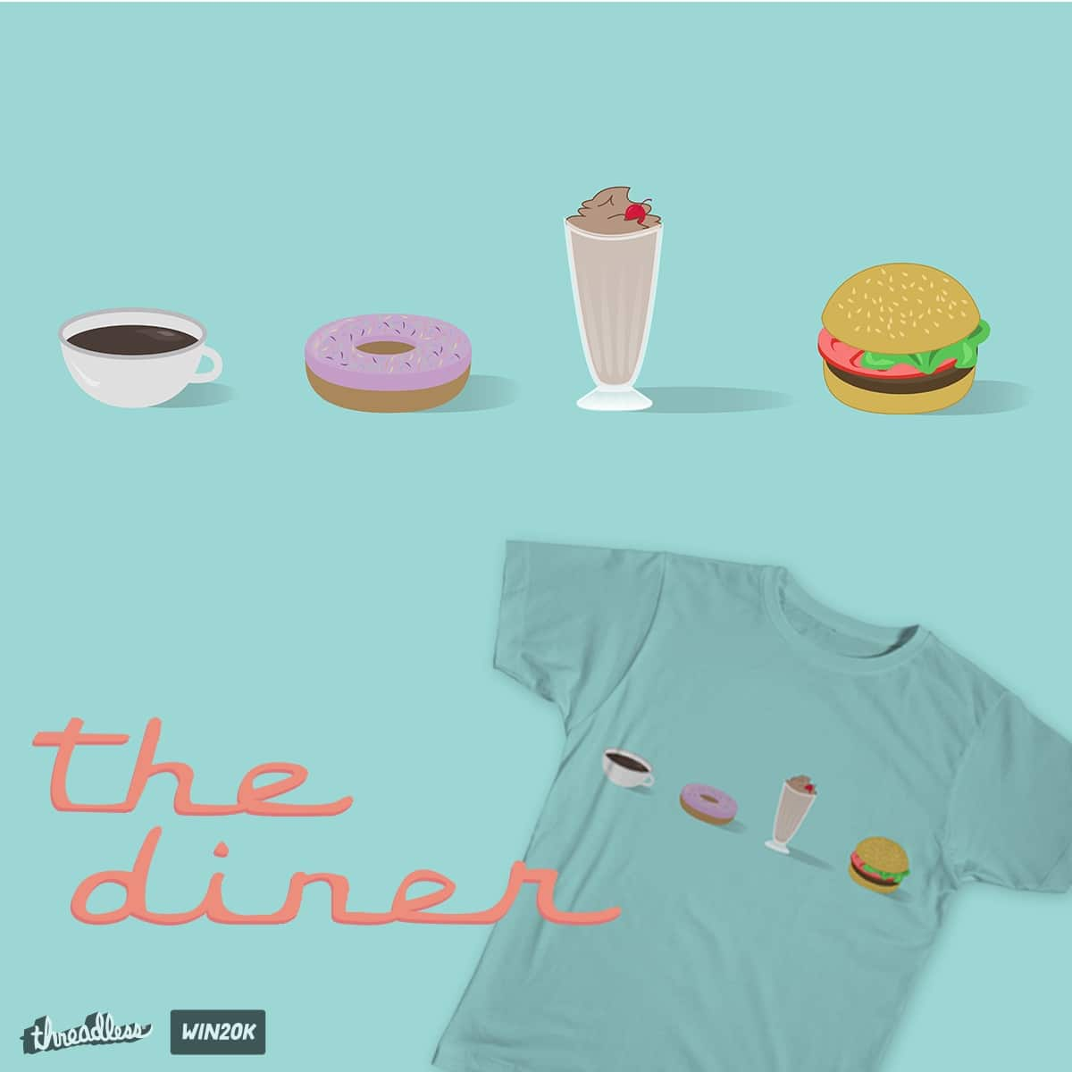 the diner by brittcorry on Threadless