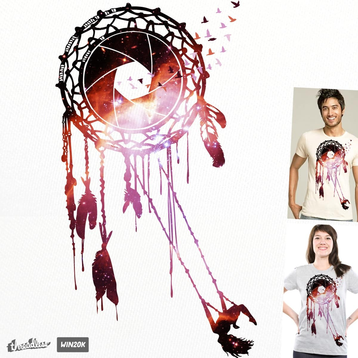 Never Stop Dreaming Dreamcatcher by Jemae on Threadless