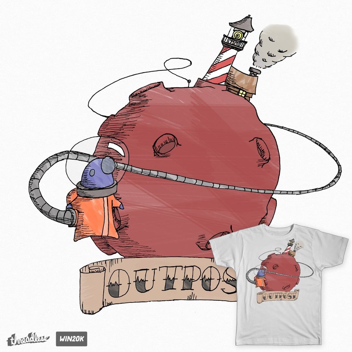 Space Outpost by TheSteeb on Threadless