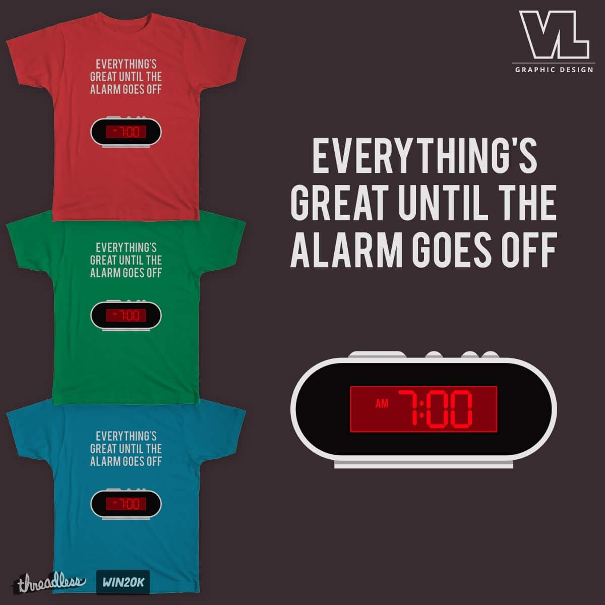 7 AM by vectoredlife on Threadless