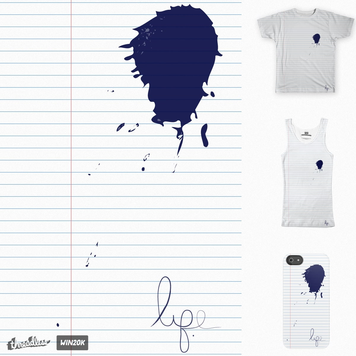 Lined Paper Stain by anlynners on Threadless