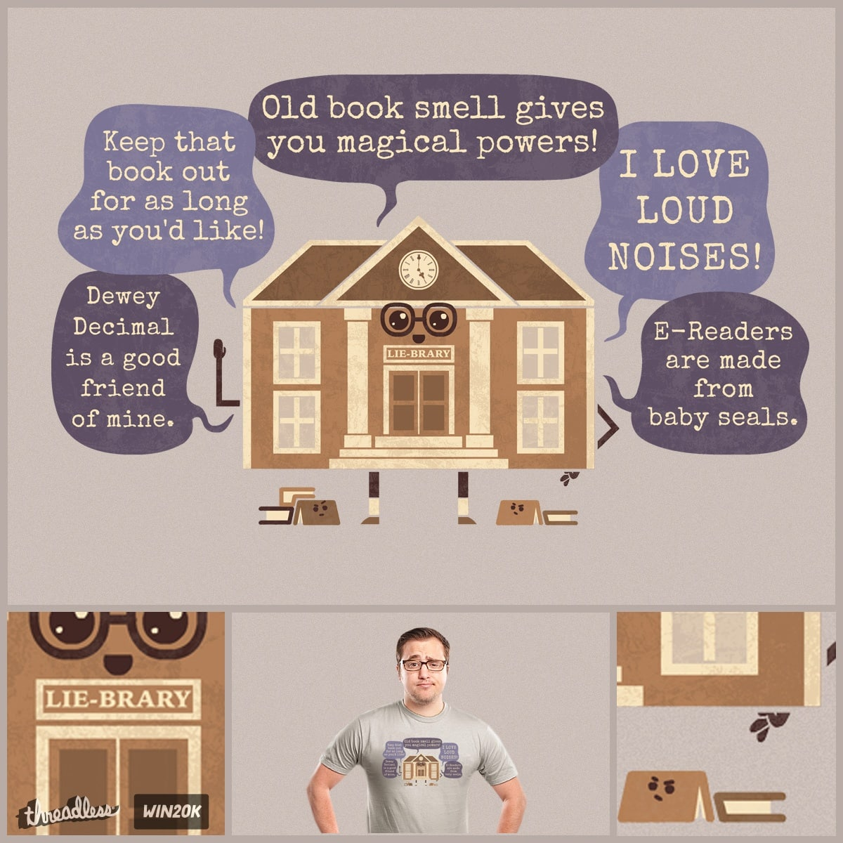 LIE-BRARY by FRICKINAWESOME and TeoZ on Threadless